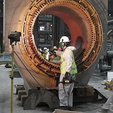 Limpieza criogénica y mantenimiento de motor sincrónico de molino de bolas